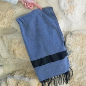 شال شتوي تقليدي (رمادي)