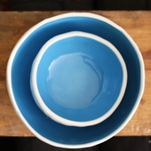Bowl Set in White and Blue