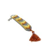 Hand-embroidered Keychain (Orange)