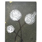 White Blossoms (Oil on Canvas)