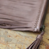 Handmade Leather Clutch in Tan