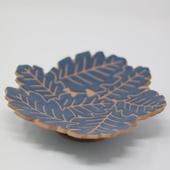 Leaf Serving Bowl: Dark Blue