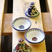 Tagine Container Set: Blue and Multicolor