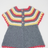 Crochet Baby Dress: Multicolor (Size 6-9 Months)
