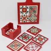 Red Table Set