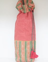 Red and Green Bottle Bag