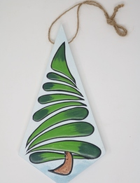 Abstract Christmas Tree Wall Hanging