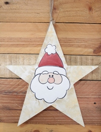 Star-Shaped Santa Wall Hanging