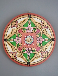 Traditional Ornamental Wall Hanging in Pink