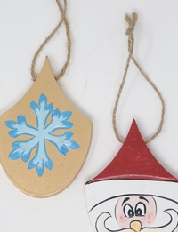 Santa and Snowflake Wall Hangings