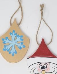 Santa and Snowflake Wall Hangings