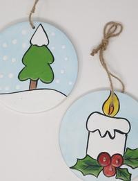 Candle and Christmas Tree Wall Hangings