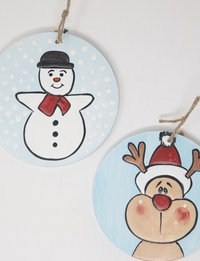 Reindeer and Snowman Wall Hangings