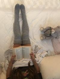 جوارب طويلة (رمادي)