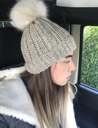 Knit Beanie in Grey