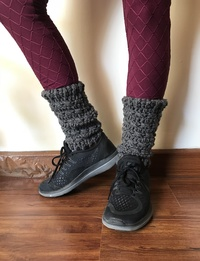 Leg Warmers in Dark Grey