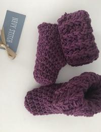 Baby Booties in Purple