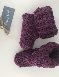 Baby Booties in Purple