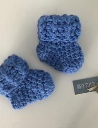 Baby Booties in Blue