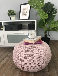 Small Pouf Chair in Pink