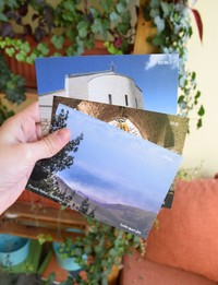 3x Postcards: Holy Places