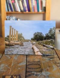 لوحة تعليق خشبية - صورة أم قيس