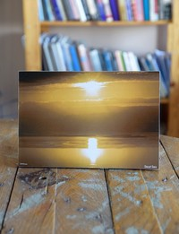 Picture on Wood: Dead Sea Sunrise