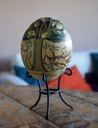 Ostrich Egg: Tree of Life