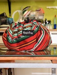 Cooking Bag in Brown and Red Bedouin Patterns, Medium