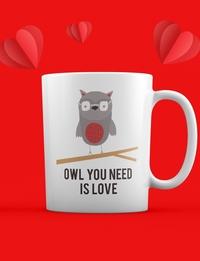 Valentine Mug: Owl You Need Is Love