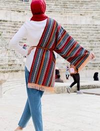 A Boho inspired poncho