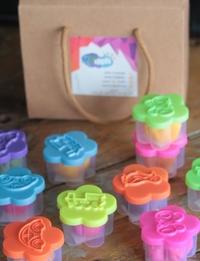 مجموعة معجون اطفال بألوان مختلفة  -  10 قطع