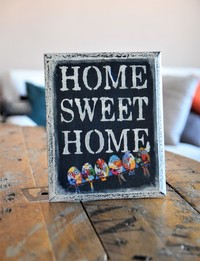 &Home,Sweet Home& Wall Decor (Pink)
