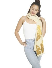 Printed Scarf in Leaf