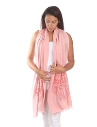 Printed Scarf in Pink