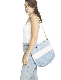 حقيبة يد - ازرق و ابيض