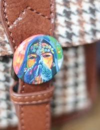 Pin Button: Beduin Woman