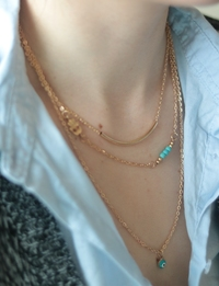 Layered Necklace in Gold