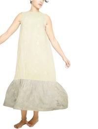 فستان - بيج ورمادى