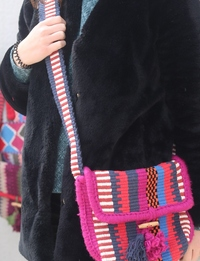 Crossbody Bag with Fuchsia Details