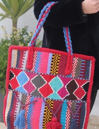 Woven Colored Bag