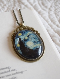 Van Gogh Glow in the Dark Necklace