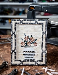 Mosaic Flower Vase - Rectangle