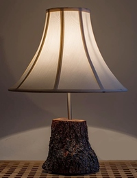 Wooden Side Lamp