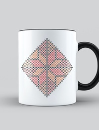 Najme Pattern in Orange and Red