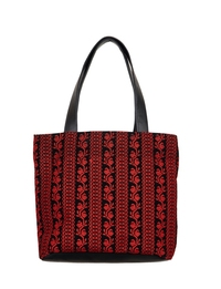Tote Bag in Black and Red
