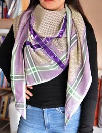 Keffiyeh with Purple Sequins