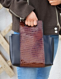 Black and Brown Handbag