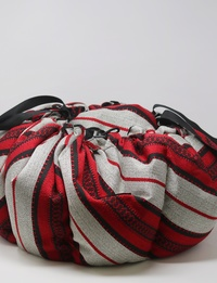 Cooking Bag in Brown and Red Bedouin Pattern, Large