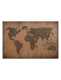 Arabic Calligraphy World Map